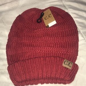 Red C.C Slouchy Beanie